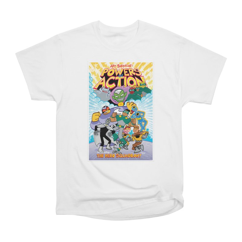 POWERS IN ACTION: THE HERO SQUADRON! Women's T-Shirt by Art Baltazar