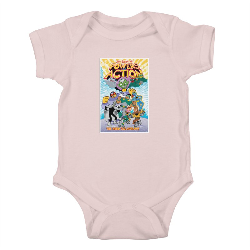 POWERS IN ACTION: THE HERO SQUADRON! Kids Baby Bodysuit by Art Baltazar