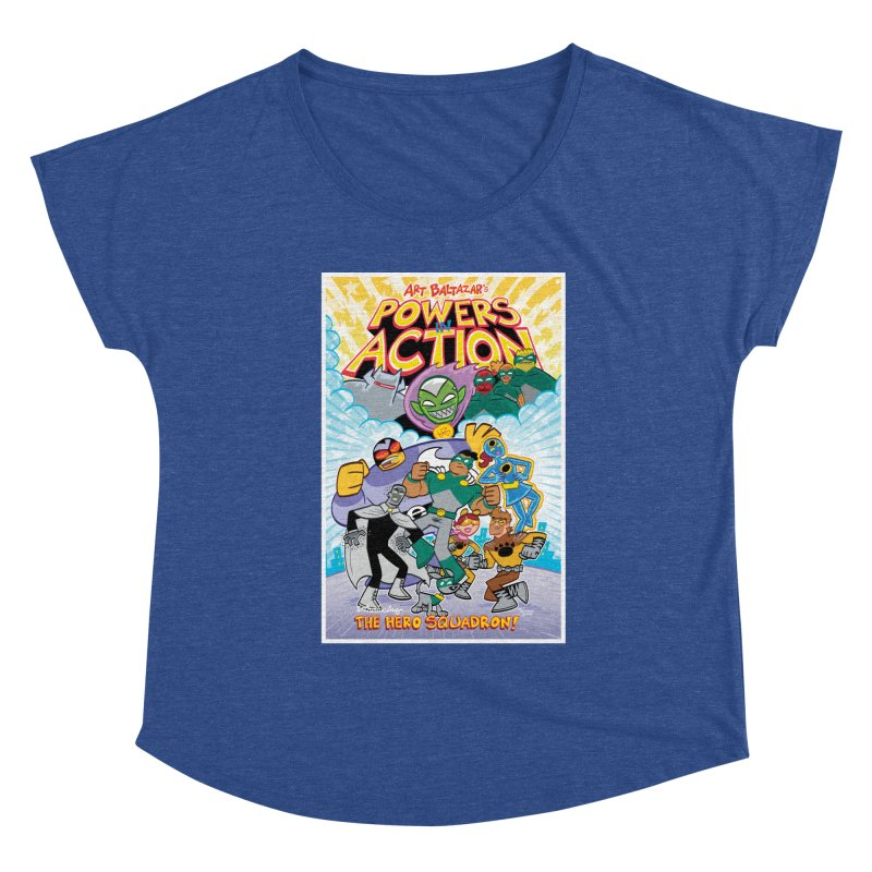 POWERS IN ACTION: THE HERO SQUADRON! Women's Scoop Neck by Art Baltazar