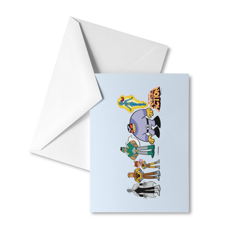 The HERO SQUADRON Line-Up! Accessories Greeting Card by Art Baltazar