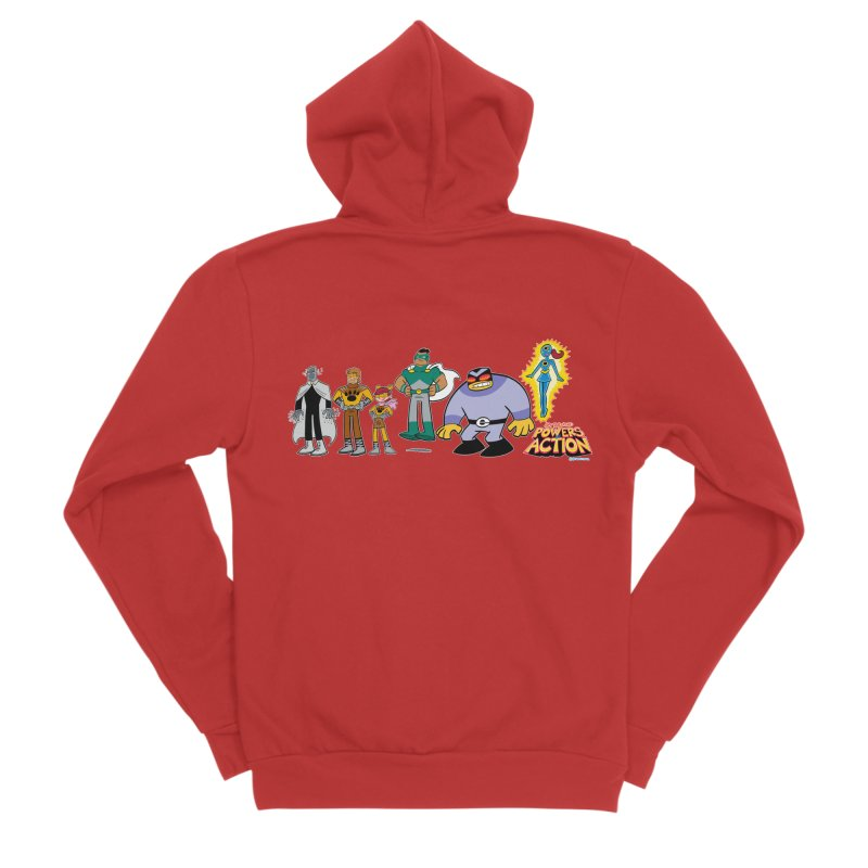 The HERO SQUADRON Line-Up! Women's Zip-Up Hoody by Art Baltazar