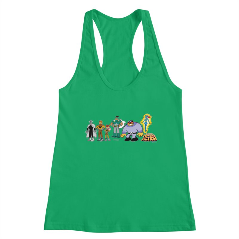 The HERO SQUADRON Line-Up! Women's Tank by Art Baltazar