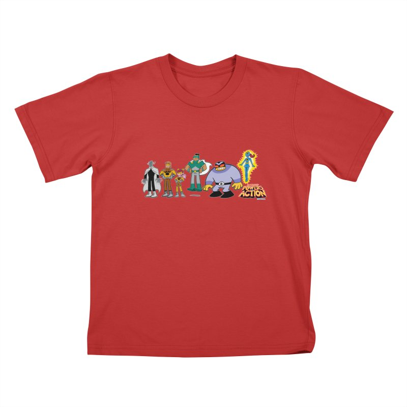The HERO SQUADRON Line-Up! Kids T-Shirt by Art Baltazar
