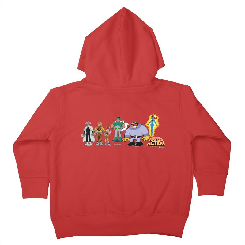 The HERO SQUADRON Line-Up! Kids Toddler Zip-Up Hoody by Art Baltazar