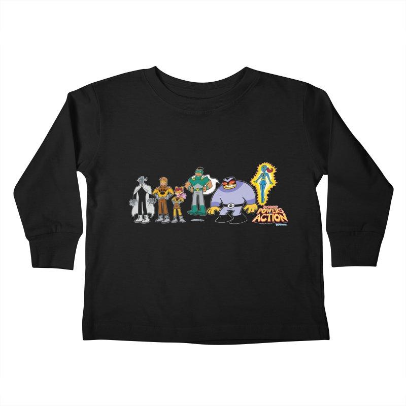 The HERO SQUADRON Line-Up! Kids Toddler Longsleeve T-Shirt by Art Baltazar