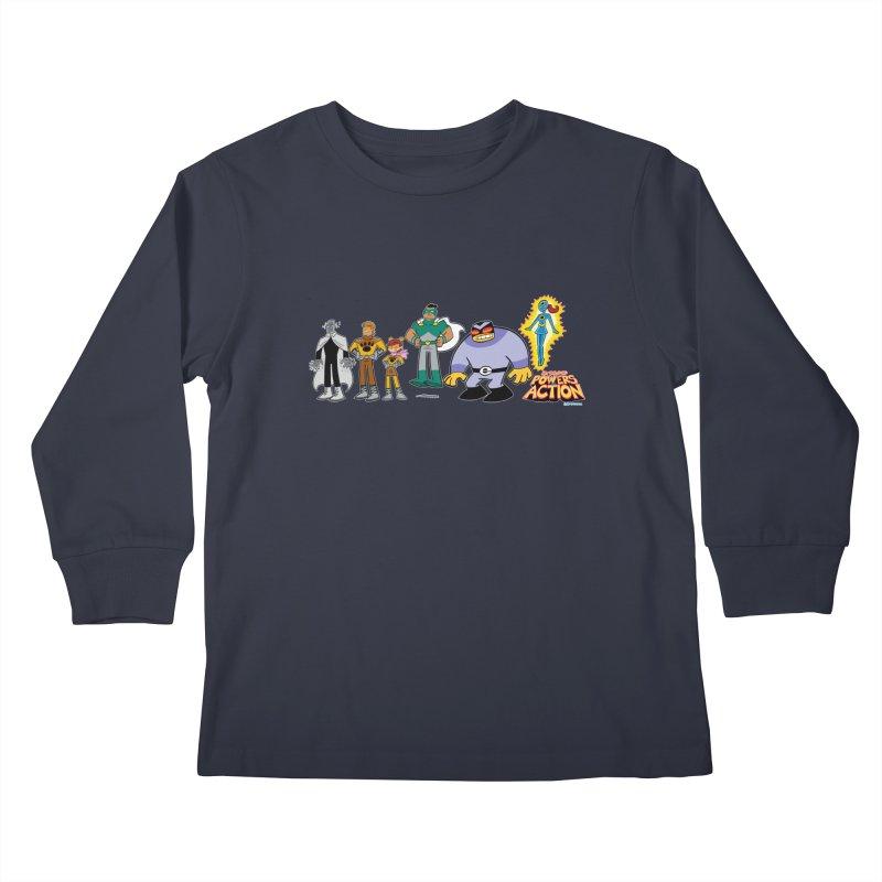 The HERO SQUADRON Line-Up! Kids Longsleeve T-Shirt by Art Baltazar