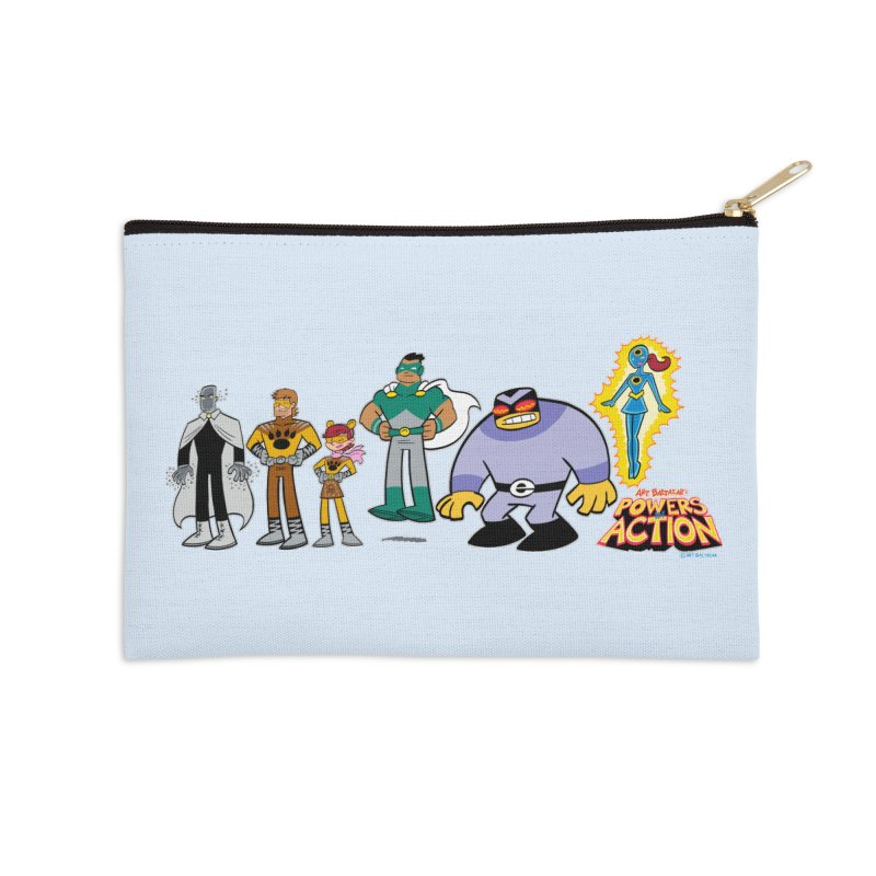 The HERO SQUADRON Line-Up! Accessories Zip Pouch by Art Baltazar