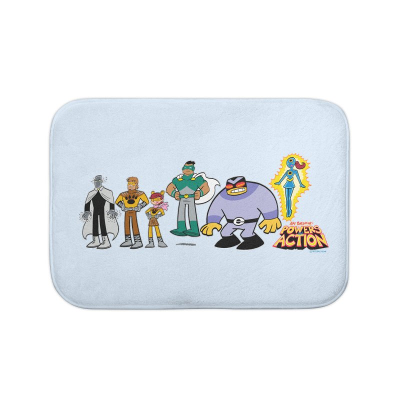 The HERO SQUADRON Line-Up! Home Bath Mat by Art Baltazar