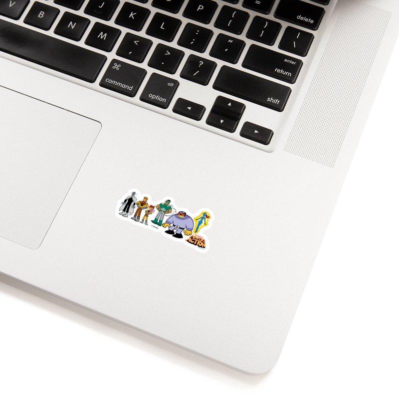 The HERO SQUADRON Line-Up! Accessories Sticker by Art Baltazar