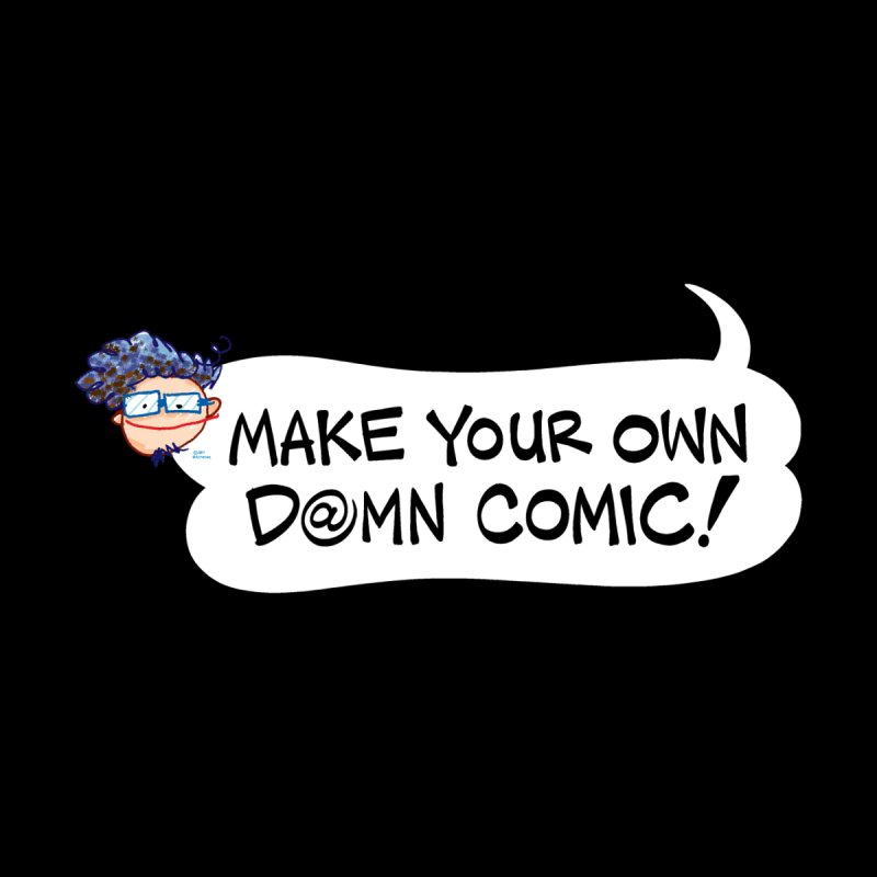 MAKE YOUR OWN D@MN COMIC! Accessories Face Mask by Art Baltazar
