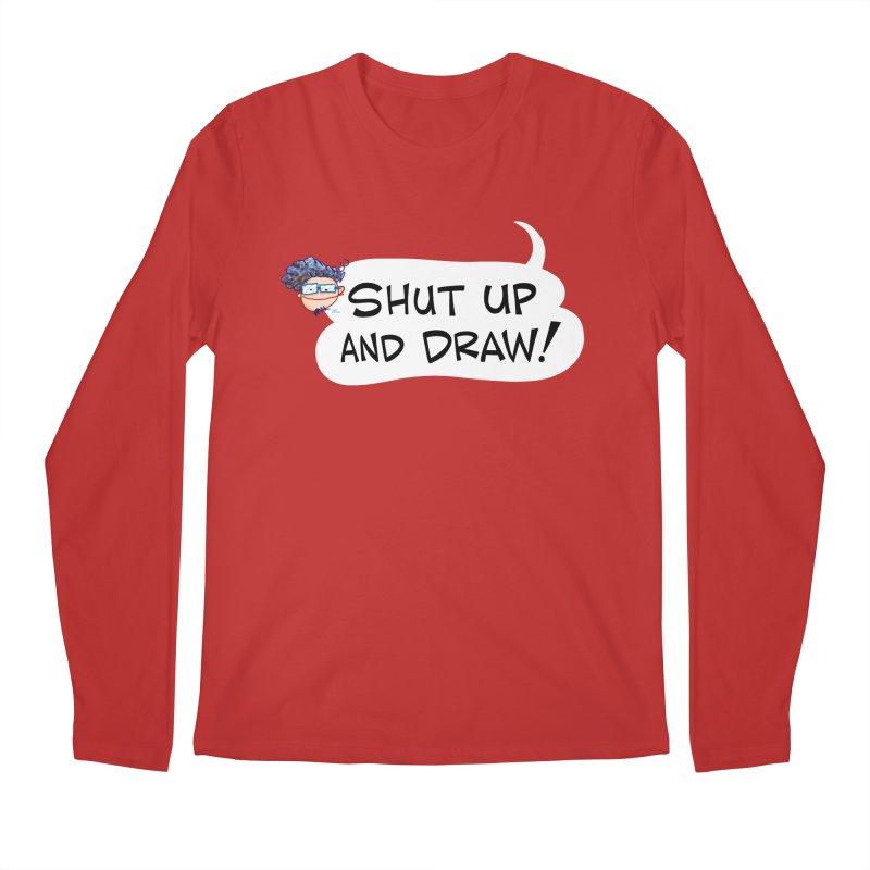 SHUT UP AND DRAW! Men's Longsleeve T-Shirt by Art Baltazar