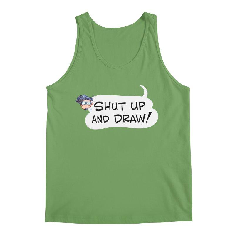 SHUT UP AND DRAW! Men's Tank by Art Baltazar