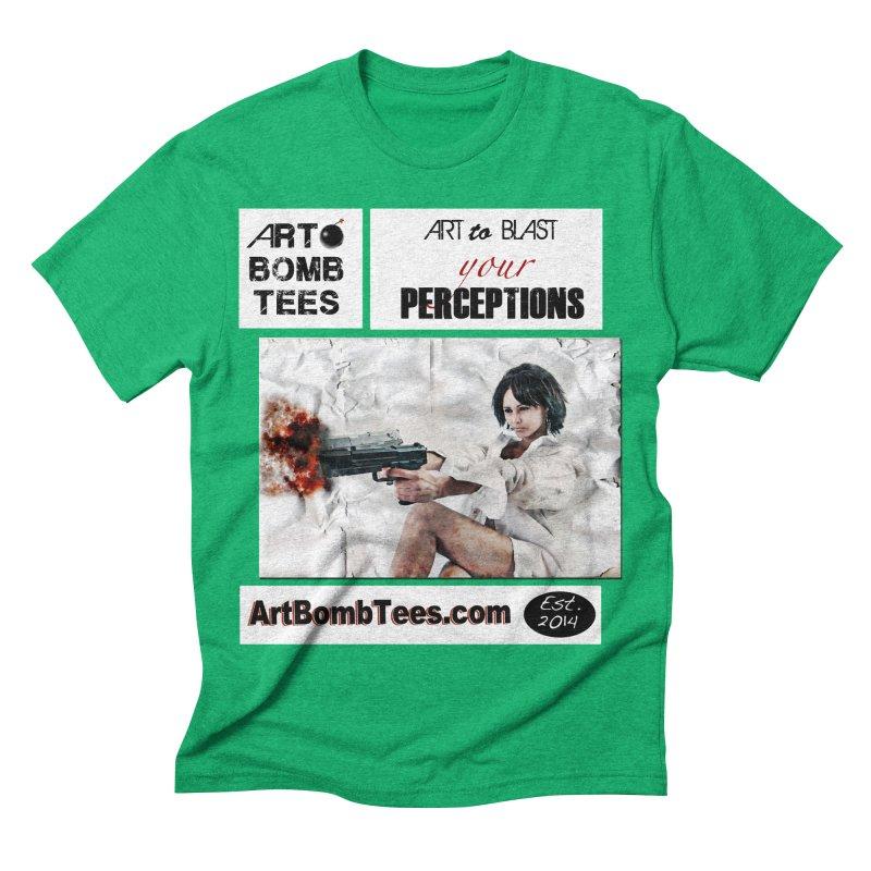 Art to Blast Your Perceptions Men's Triblend T-shirt by artbombtees's Artist Shop