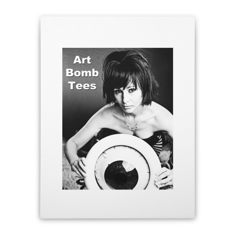 Eye of the Beholder Home Stretched Canvas by artbombtees's Artist Shop