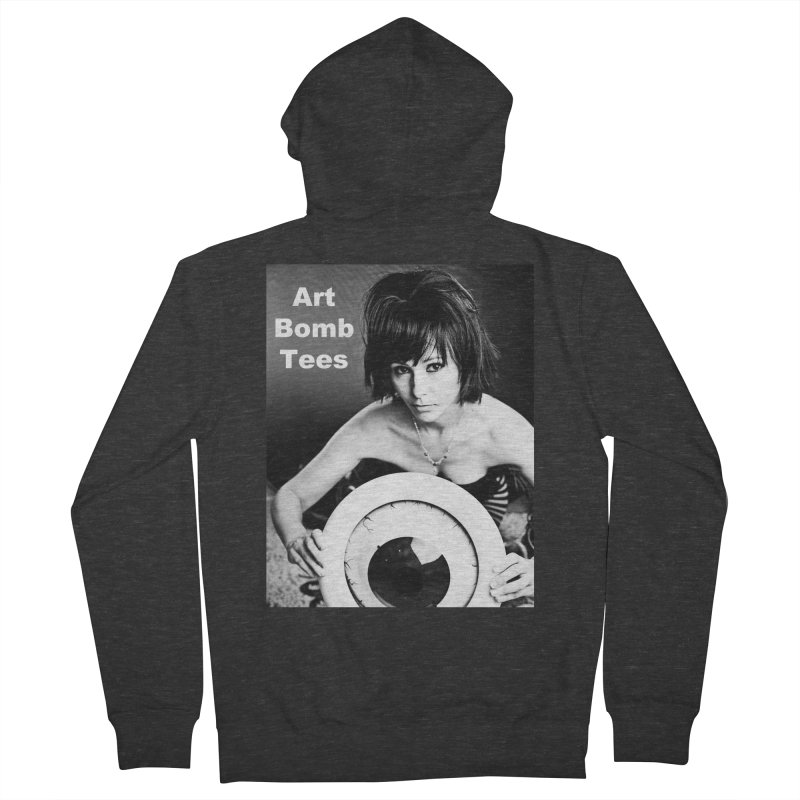 Eye of the Beholder - Borderless Women's French Terry Zip-Up Hoody by artbombtees's Artist Shop