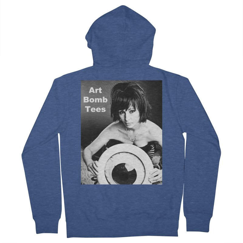 Eye of the Beholder - Borderless Men's French Terry Zip-Up Hoody by artbombtees's Artist Shop