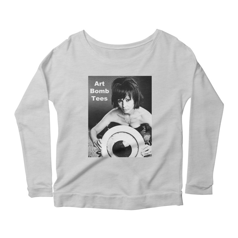 Eye of the Beholder - Borderless Women's Scoop Neck Longsleeve T-Shirt by artbombtees's Artist Shop