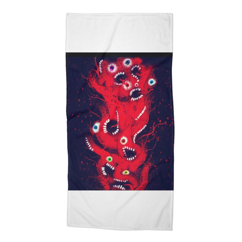 Anguish Accessories Beach Towel by artbombtees's Artist Shop