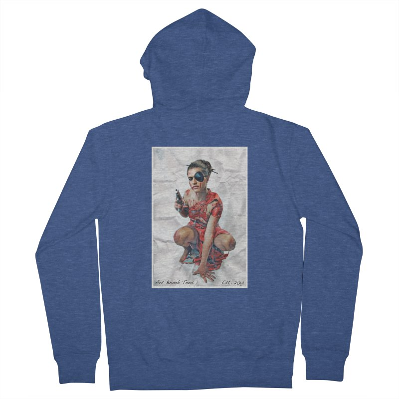 Army of One - Color Men's French Terry Zip-Up Hoody by artbombtees's Artist Shop