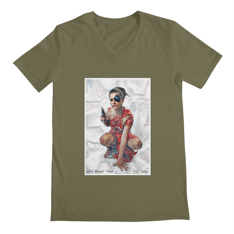 Army of One - Color Men's V-Neck by artbombtees's Artist Shop