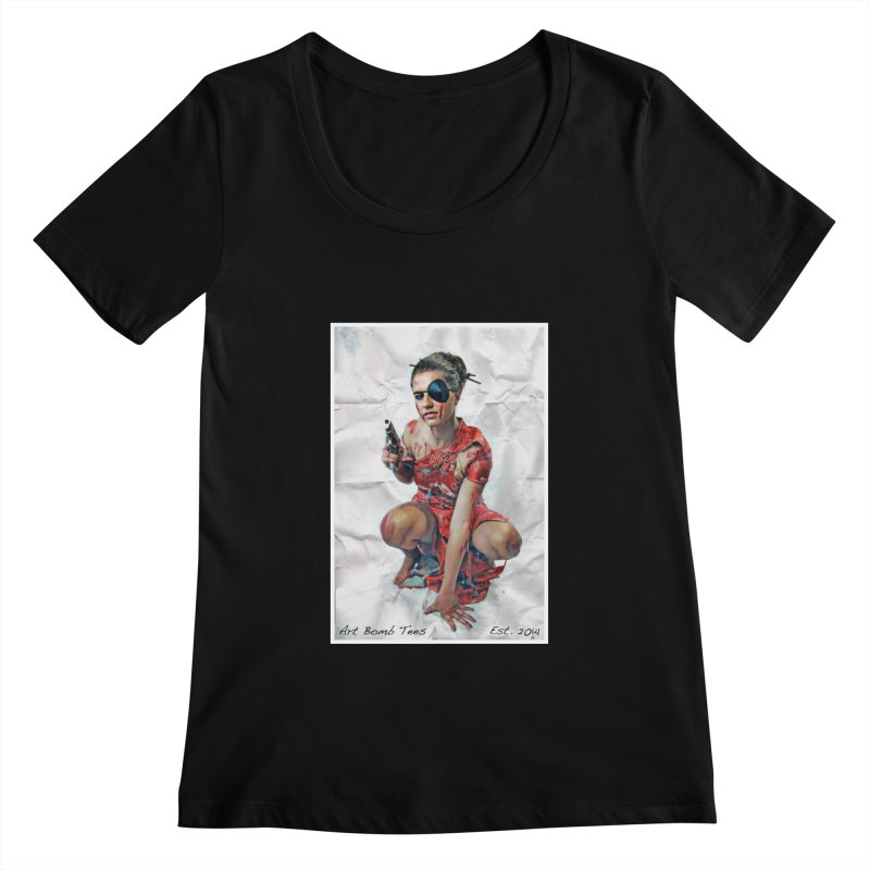 Army of One - Color Women's Scoopneck by artbombtees's Artist Shop