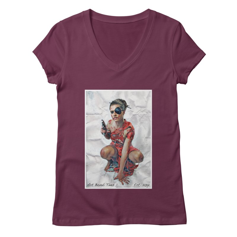Army of One - Color Women's V-Neck by artbombtees's Artist Shop