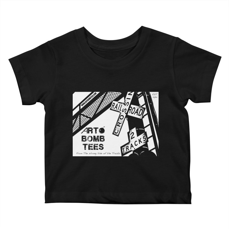 Wrong Side of The Tracks Kids Baby T-Shirt by artbombtees's Artist Shop