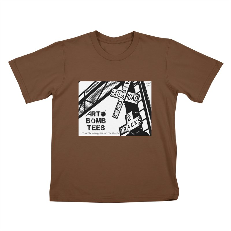 Wrong Side of The Tracks Kids T-Shirt by artbombtees's Artist Shop