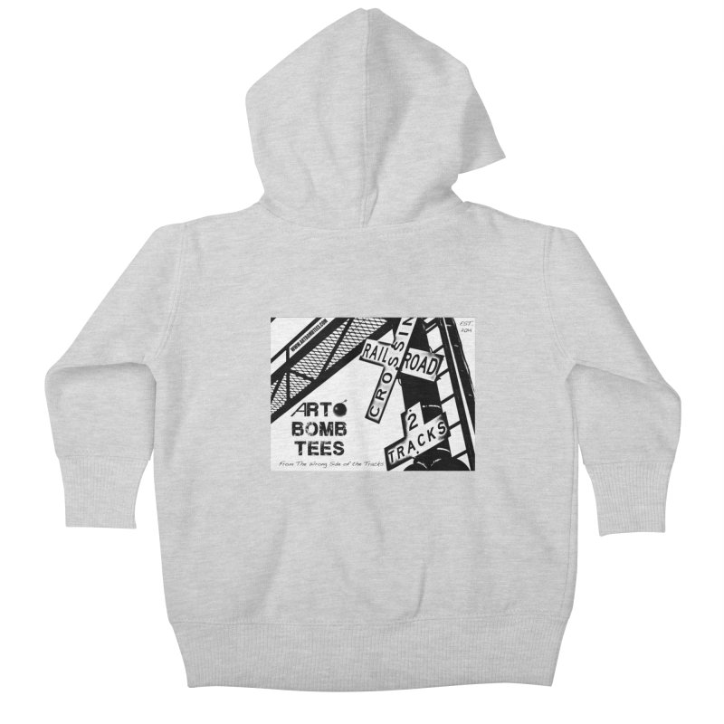 Wrong Side of The Tracks Kids Baby Zip-Up Hoody by artbombtees's Artist Shop