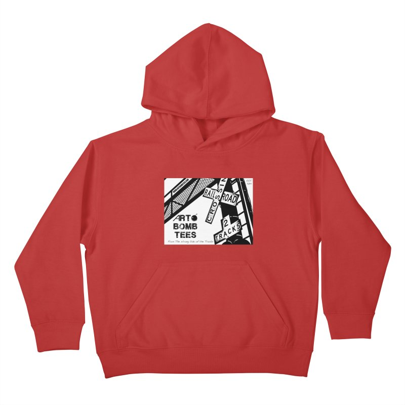 Wrong Side of The Tracks Kids Pullover Hoody by artbombtees's Artist Shop