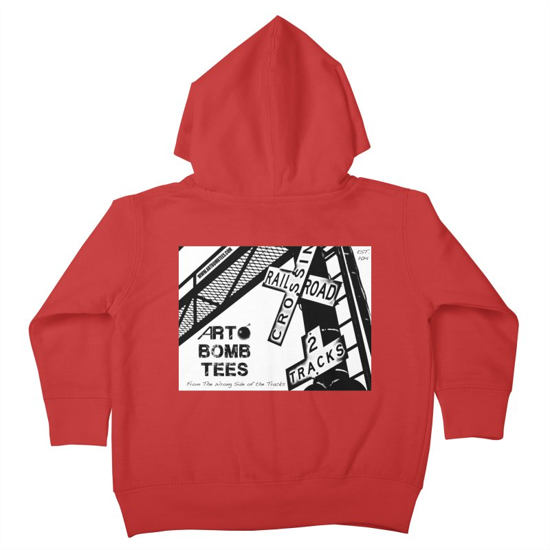 Wrong Side of The Tracks Kids Toddler Zip-Up Hoody by artbombtees's Artist Shop