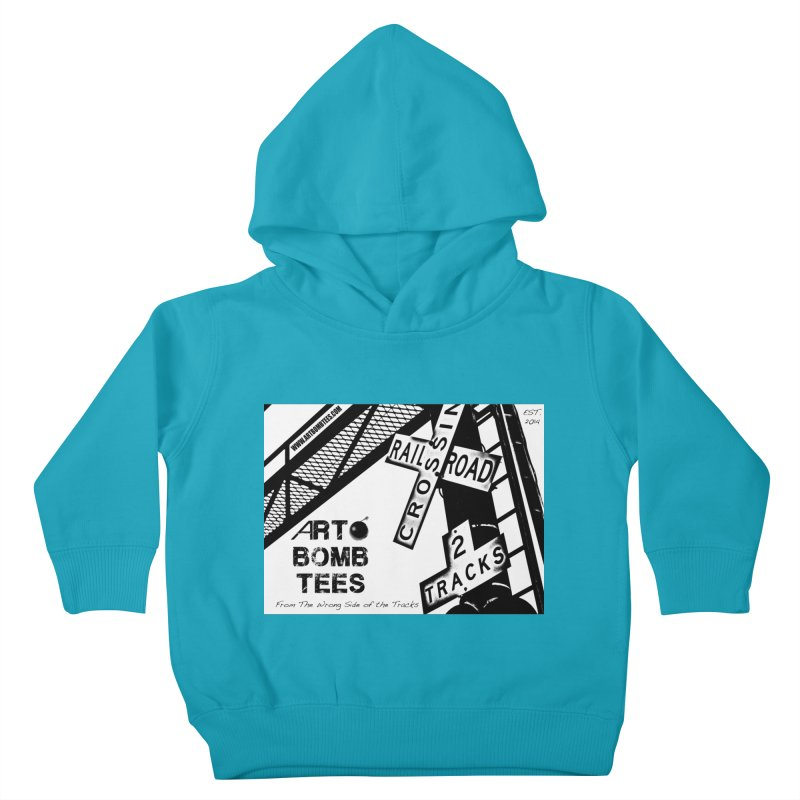 Wrong Side of The Tracks Kids Toddler Pullover Hoody by artbombtees's Artist Shop