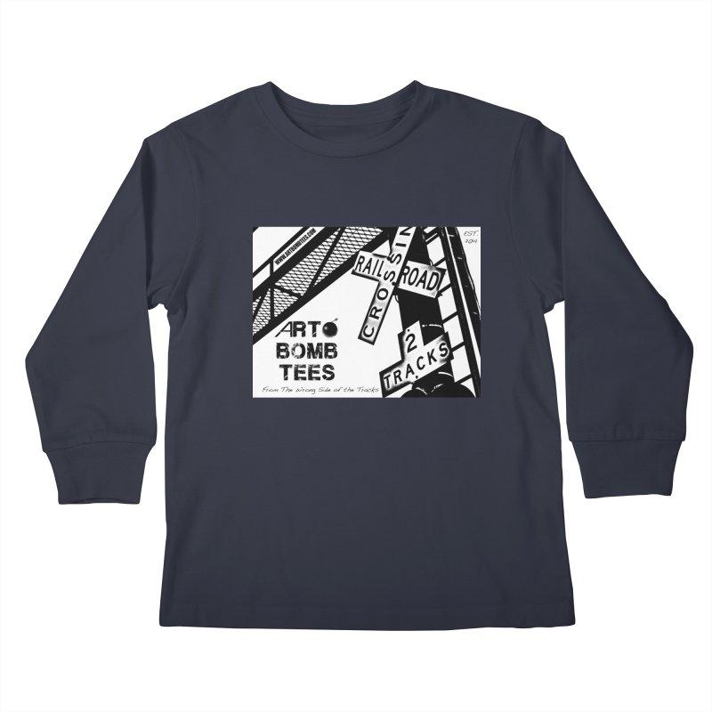 Wrong Side of The Tracks Kids Longsleeve T-Shirt by artbombtees's Artist Shop