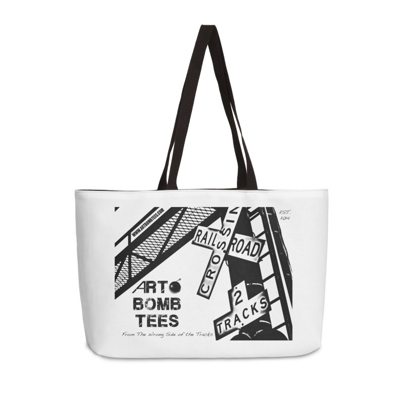 Wrong Side of The Tracks Accessories Weekender Bag Bag by artbombtees's Artist Shop