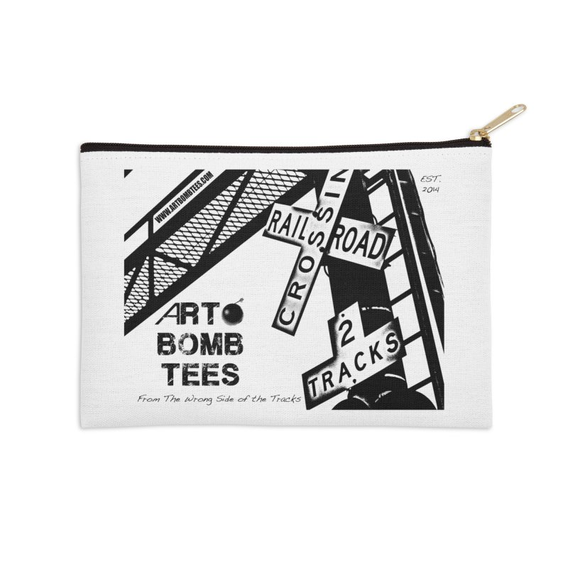 Wrong Side of The Tracks Accessories Zip Pouch by artbombtees's Artist Shop