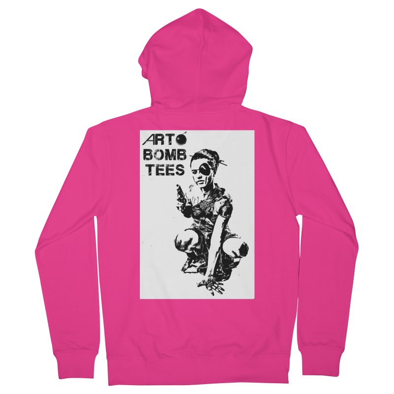 Army of One Men's French Terry Zip-Up Hoody by artbombtees's Artist Shop
