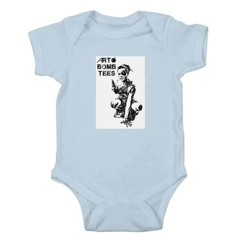 Army of One Kids Baby Bodysuit by artbombtees's Artist Shop