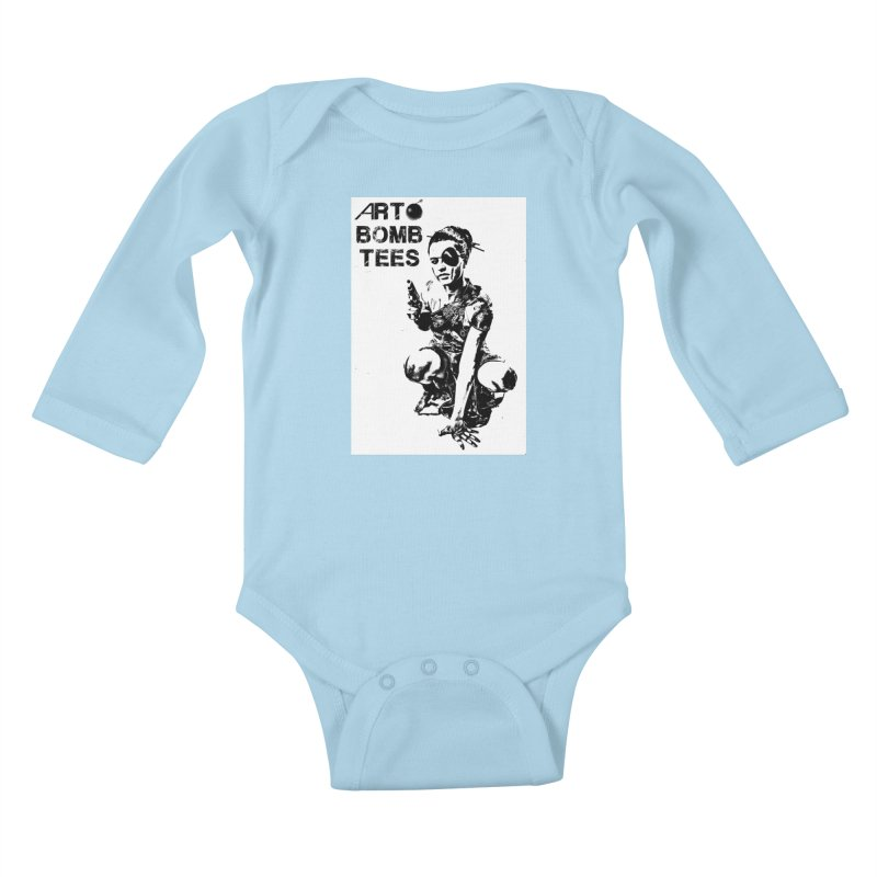 Army of One Kids Baby Longsleeve Bodysuit by artbombtees's Artist Shop
