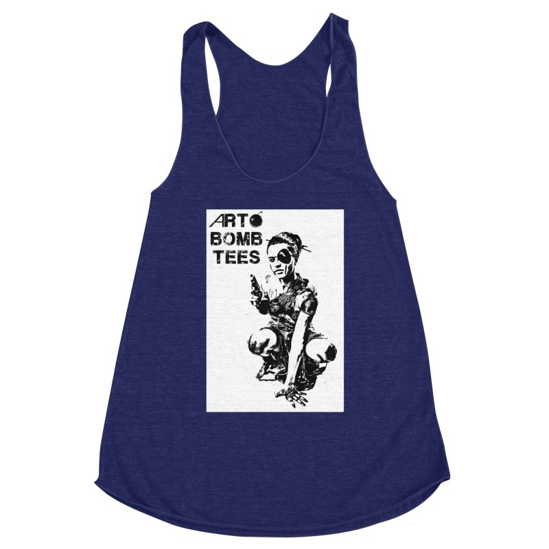 Army of One Women's Racerback Triblend Tank by artbombtees's Artist Shop