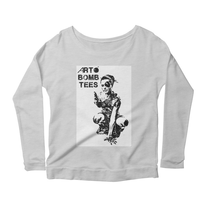 Army of One Women's Scoop Neck Longsleeve T-Shirt by artbombtees's Artist Shop