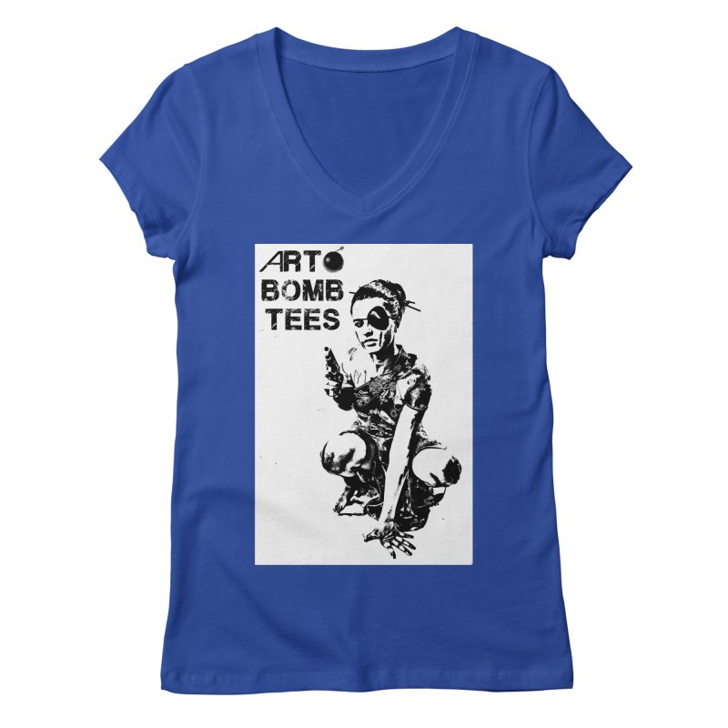 Army of One Women's Regular V-Neck by artbombtees's Artist Shop