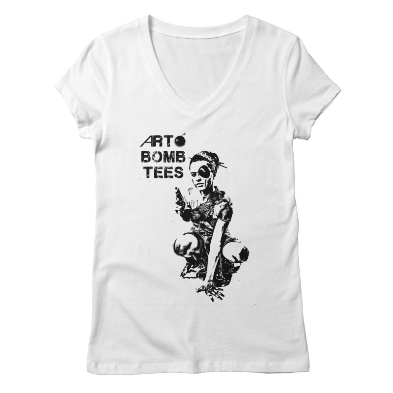 Army of One Women's V-Neck by artbombtees's Artist Shop