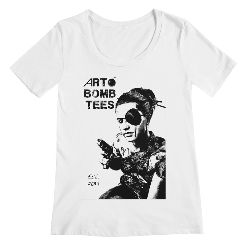 Army of One Part 2 Women's Scoopneck by artbombtees's Artist Shop