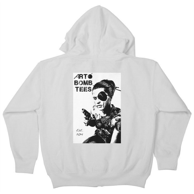 Army of One Part 2 Kids Zip-Up Hoody by artbombtees's Artist Shop
