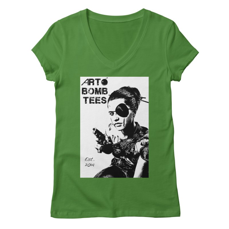 Army of One Part 2 Women's Regular V-Neck by artbombtees's Artist Shop