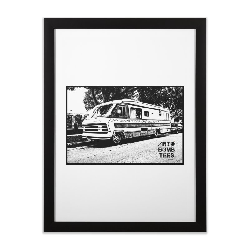 Art Bomb Tees or Bust Home Framed Fine Art Print by artbombtees's Artist Shop