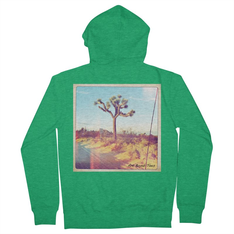 Desert Roads Men's Zip-Up Hoody by artbombtees's Artist Shop