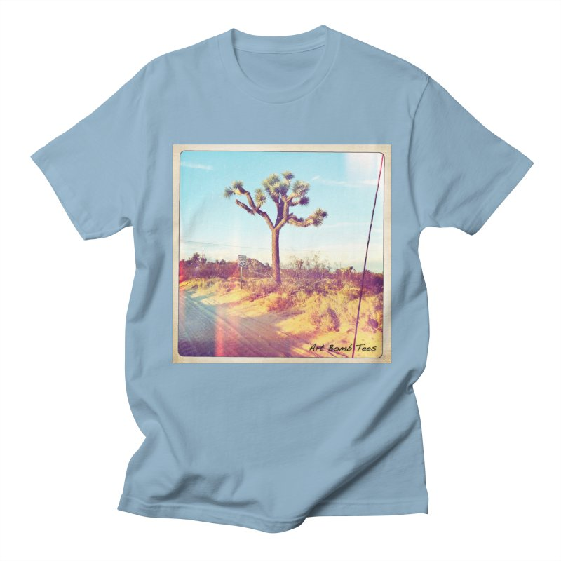 Desert Roads in Men's T-shirt Light Blue by artbombtees's Artist Shop