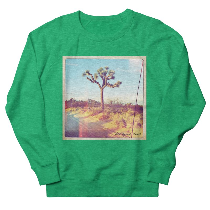 Desert Roads Men's French Terry Sweatshirt by artbombtees's Artist Shop
