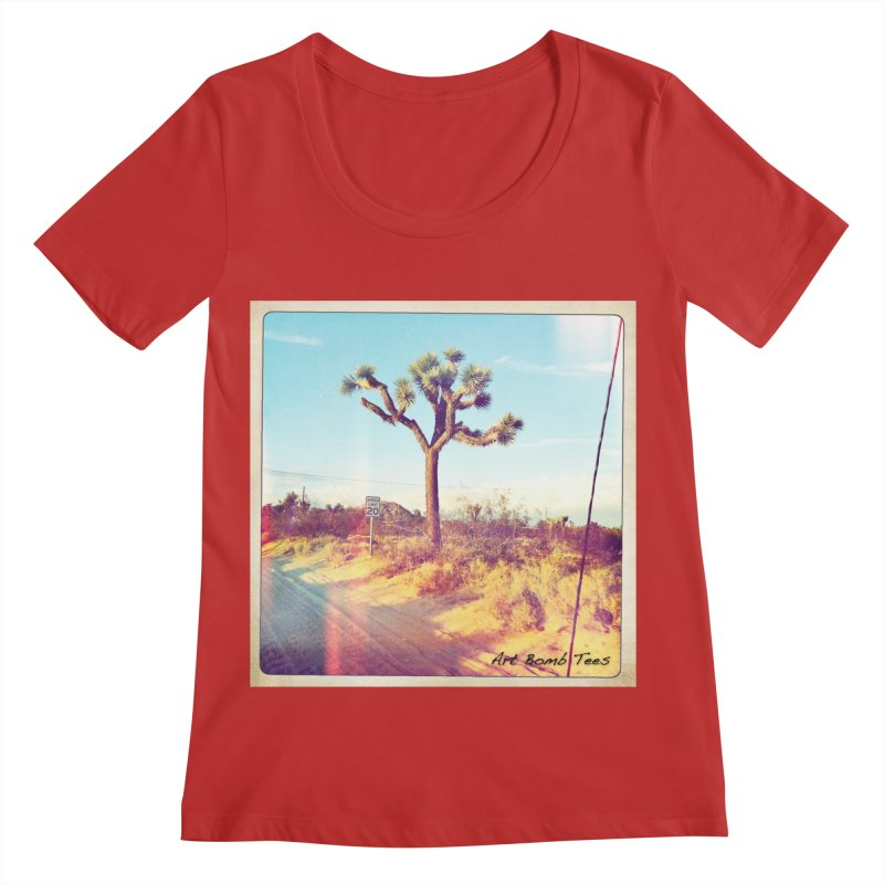 Desert Roads Women's Regular Scoop Neck by artbombtees's Artist Shop